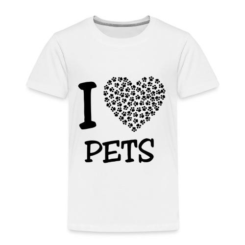 I LOVE PETS - Camiseta premium niño