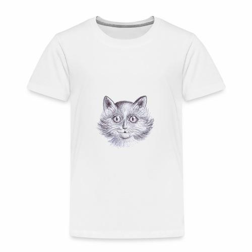 Gatto Con occhi grandi - Maglietta Premium per bambini