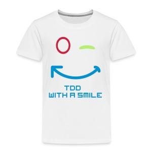 TDD met een glimlach - Kinderen Premium T-shirt