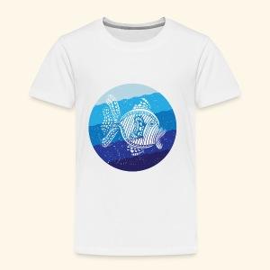 Stripey Sweetlips Fish Retro - Kids' Premium T-Shirt