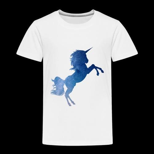 Galaxy Unicorn - Blue - Kinder Premium T-Shirt
