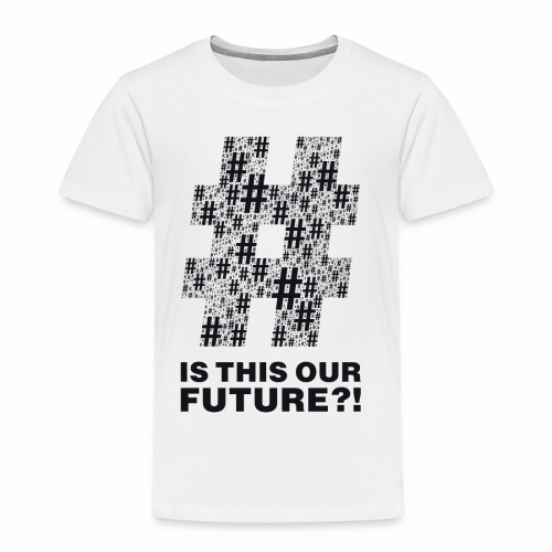 Question or statement?! black by camaleon_design - Kinder Premium T-Shirt