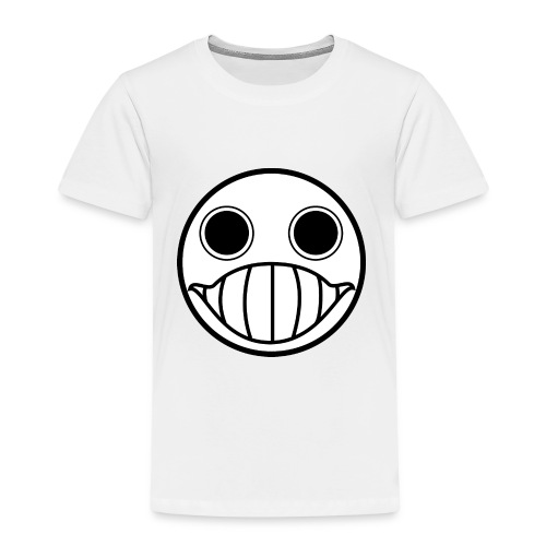Crazy Cringe Smiley (Schwartz) - Kinder Premium T-Shirt