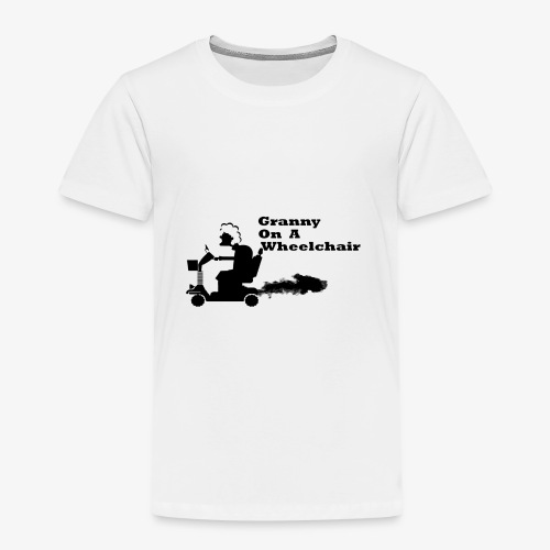 granny on a wheelchair - Kids' Premium T-Shirt