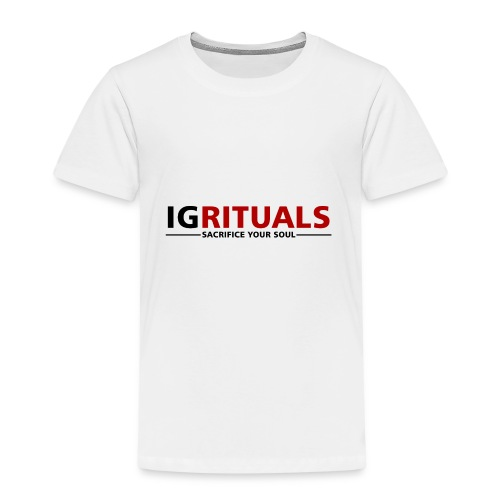 ig rituals text black and red - Kids' Premium T-Shirt