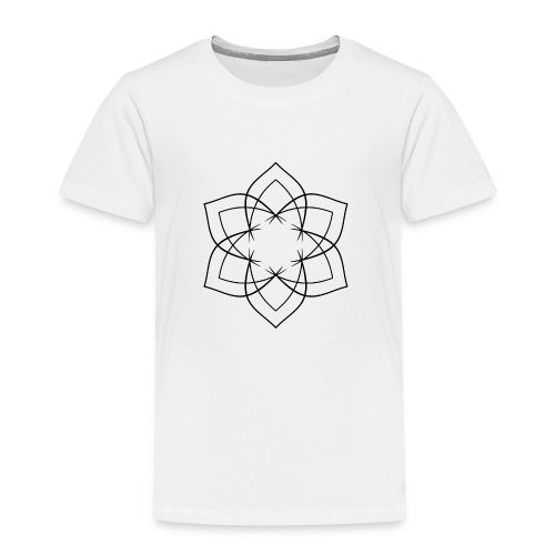Mandala 6 Blätter schwarz - Kinder Premium T-Shirt