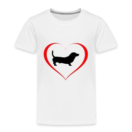 Hunde Liebe Dackel - Kinder Premium T-Shirt