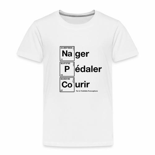 Nager Pédaler Courir Tableau Périoque en Noir - T-shirt Premium Enfant