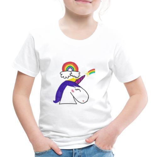 Unicorno arcobaleno - Maglietta Premium per bambini