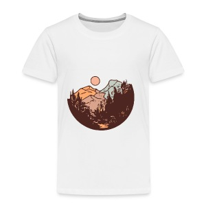 Sunset Mountain - Kids' Premium T-Shirt