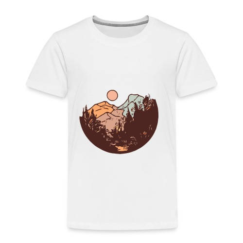 Sunset Mountain - Kids' Premium T-Shirt