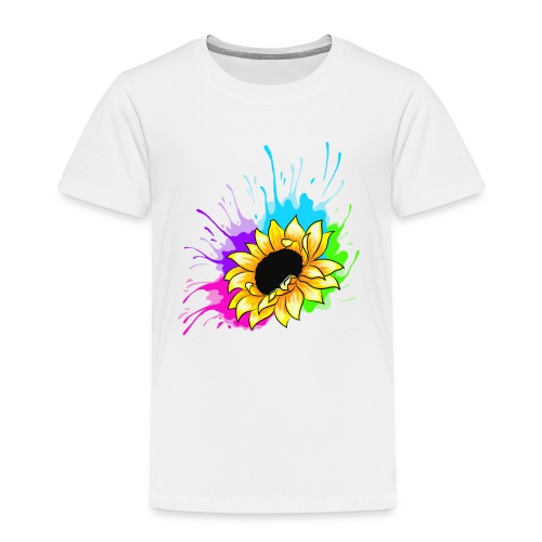 Sonnenblume Splash - Kinder Premium T-Shirt