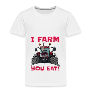 I farm you eat case - Kinderen Premium T-shirt