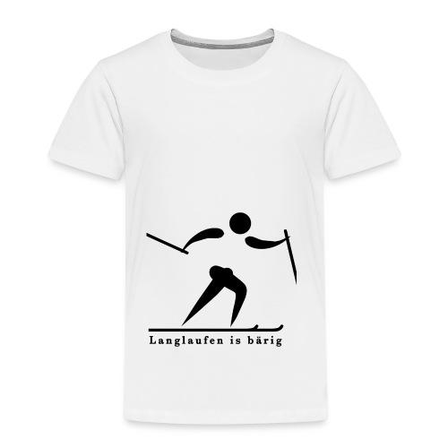 Langlaufen is bärig - Kinder Premium T-Shirt