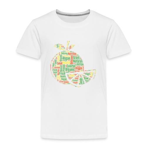 Vegan Word Cloud als Geschenkidee - Kinder Premium T-Shirt