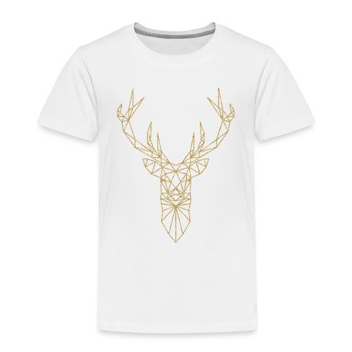 Hirsch Triangel gold - Kinder Premium T-Shirt