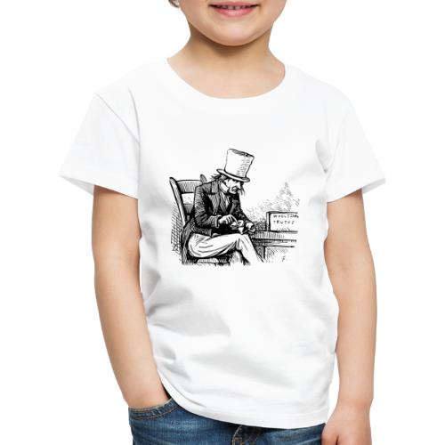 Old man smoking Pipe - Kinder Premium T-Shirt