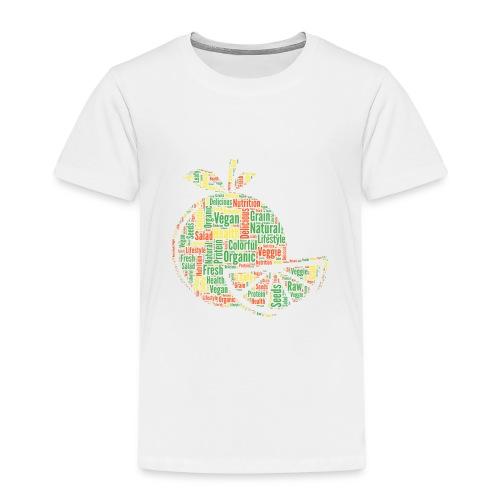 Vegan Cloud Veggie Vegetarisch Organic Geschenk - Kinder Premium T-Shirt