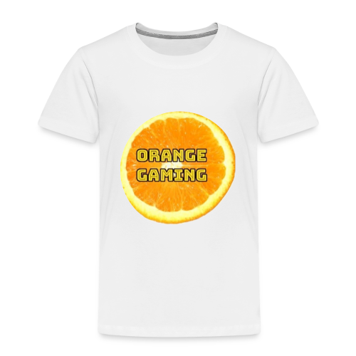 Orange_Logo_White - Kids' Premium T-Shirt
