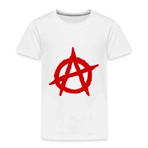 Anarchy logo rosso - Maglietta Premium per bambini