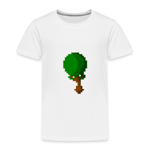 Happy Pixel Tree - Kinderen Premium T-shirt