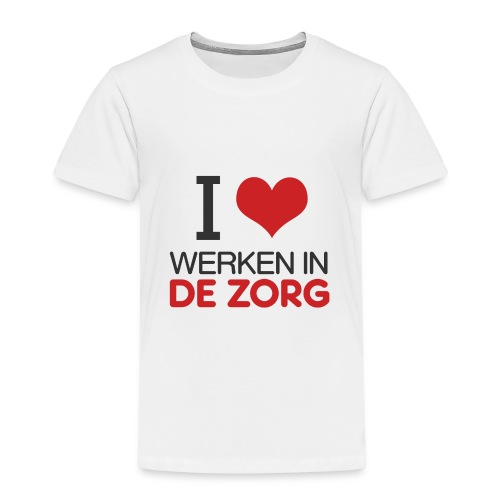I LOVE Werken in de zorg - Kinderen Premium T-shirt