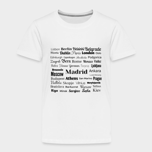 European capitals - Kids' Premium T-Shirt