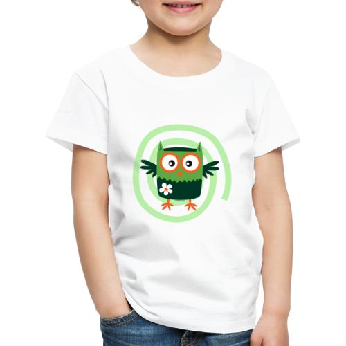 FP10-56 FLOWER OWL - TEXTILE AND GIFT PRODUCTS - Lasten premium t-paita