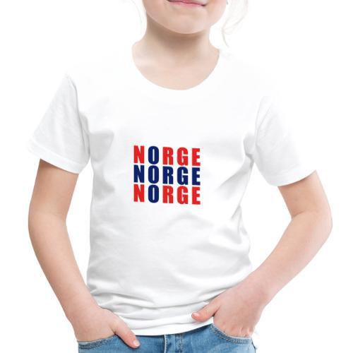 Norge Norwegen Norwegische Flagge - Kinder Premium T-Shirt