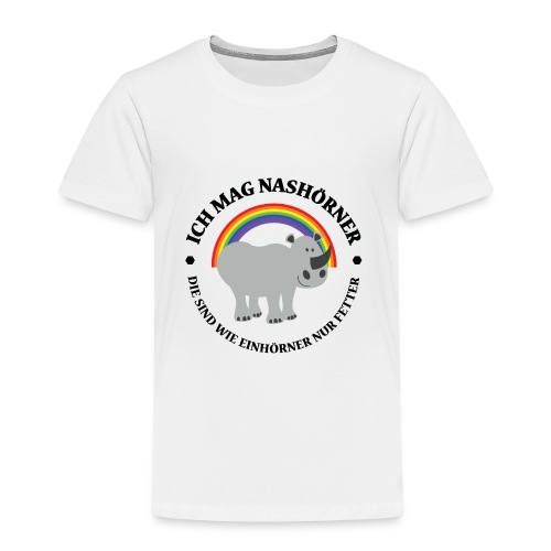 Ich mag Nashörner - Kinder Premium T-Shirt