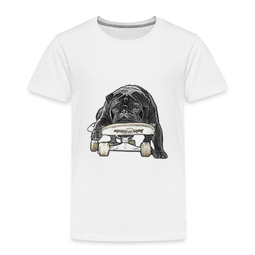 skateboard pug - Kinder Premium T-Shirt