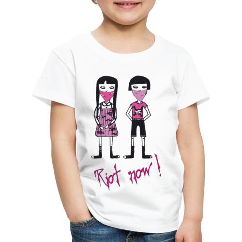 Riot now, Molly und ihr Freund mit Totenkopf Motiv - Kinder Premium T-Shirt