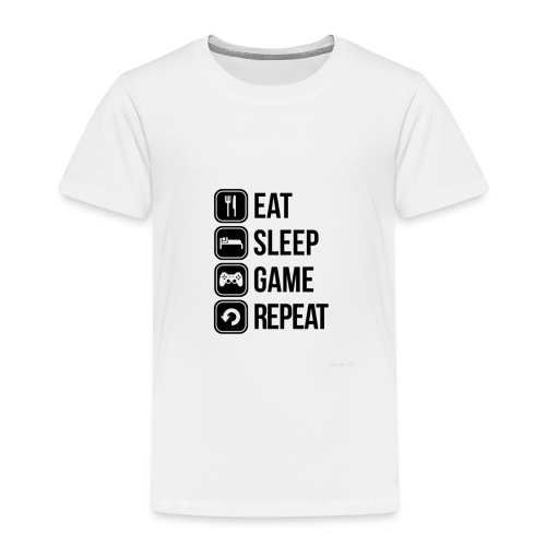 Eat Sleep Game Repeat Collection - Kids' Premium T-Shirt