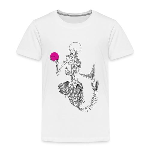 Black Mermaids Skelleton Pink Ball - Premium-T-shirt barn
