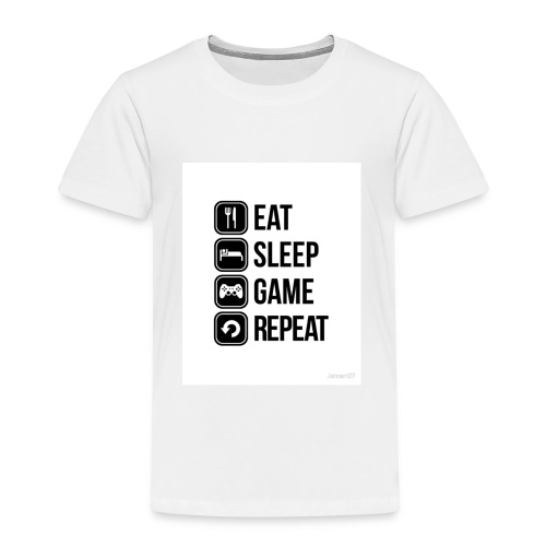 Eat Sleep Game Repeat Collection - Kids' Premium T-Shirt