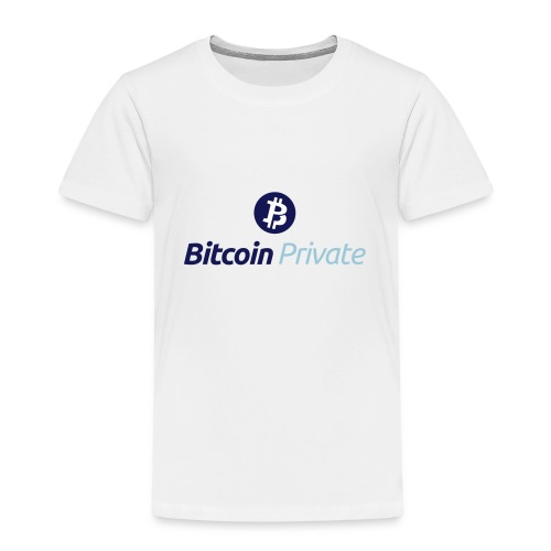 Bitcoin Private Logo ICON TOP - Dark / Light Blue - Kids' Premium T-Shirt