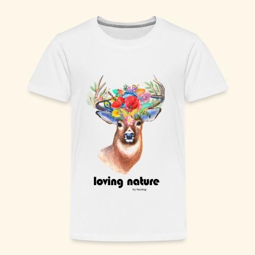Ciervo con flores - Camiseta premium niño