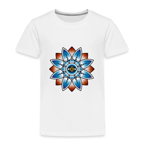 Psychedelisches Mandala mit Auge - Kinder Premium T-Shirt