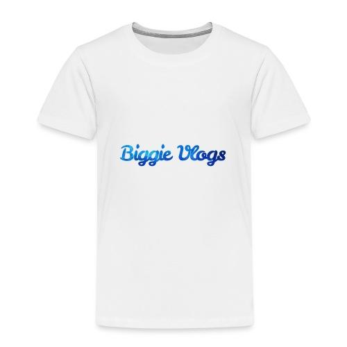 blue BiggieVLogs Kids tshirt - Kids' Premium T-Shirt