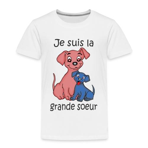 Je suis la grande soeur chiot B - T-shirt Premium Enfant