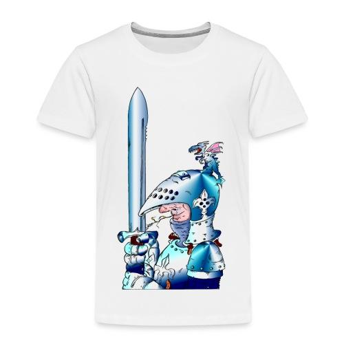 Ritter mit Schwert rechts - Kinder Premium T-Shirt