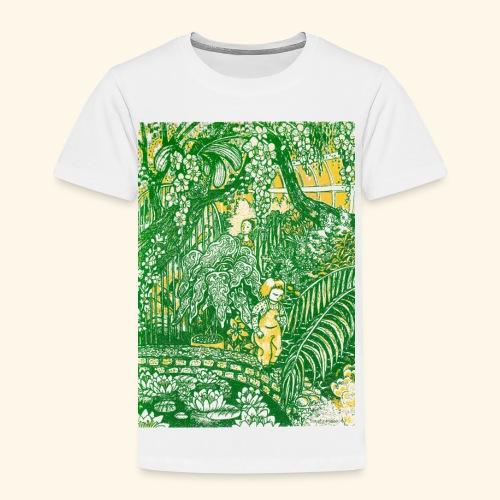 Children in a green garden - Lasten premium t-paita