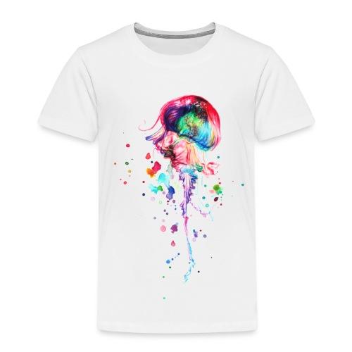 Bunte Qualle Aquarell - Kinder Premium T-Shirt