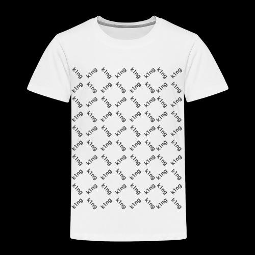 k1ng Muster - Kinder Premium T-Shirt