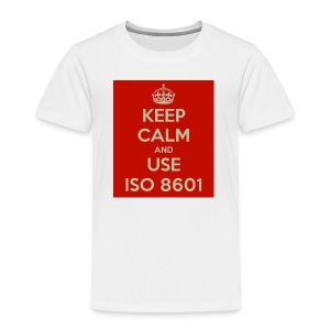 keep calm and use iso 8601 - Premium T-skjorte for barn
