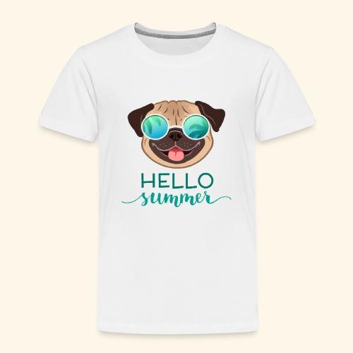 Summer Pug - Kids' Premium T-Shirt