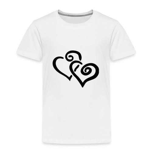 Black hearts - Kinder Premium T-Shirt