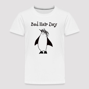 Bad Hair Day Pinguin - Kinder Premium T-Shirt