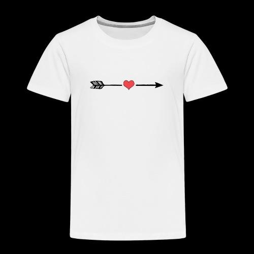 Love Arrow, Pfeil Liebe minimalistic - Kinder Premium T-Shirt