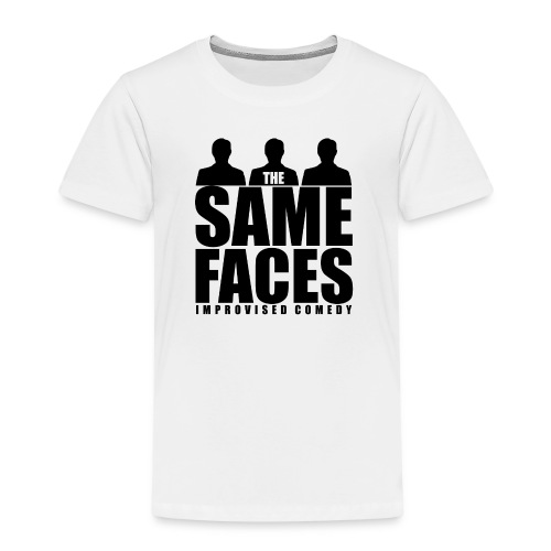 Same Faces Logo - Black - Kids' Premium T-Shirt